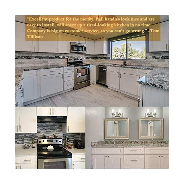 """Pulls Drawer And Knobs Cabinet Handles Brushed Nickel 26 Pack Kitchen 10 3/"""" Hole"""