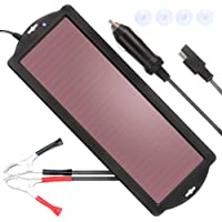POWISER 1.8W Solar Battery Charger 12V Solar Powered Battery maintainer & Charger,Suitable for Automotive, Motorcycle, Boat, Marine, RV, Trailer, Powersports, Snowmobile, etc.(1.8W Amorphous)