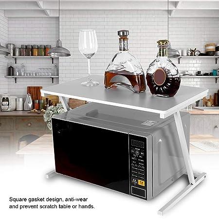 Soporte para microondas Estanteria Cocina para Horno De Microondas De Pie Microondas Organizador Horno Estante 57 x 34 x 38cm (Blanco)