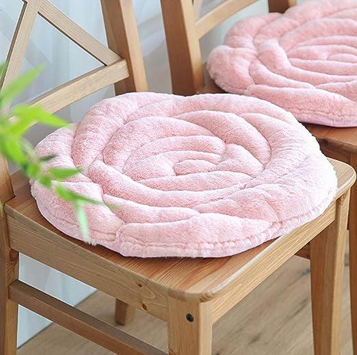 MARXHOT Almohada de Piso con Forma de Rosa Cojín de Asiento ...