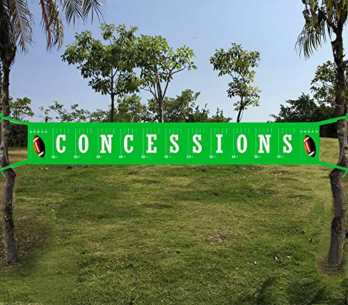 Large Football Concessions Banner - Football Happy Birthday Bunting Banner - Football theme party banner - Football Baby Shower - Sports Party Decorations