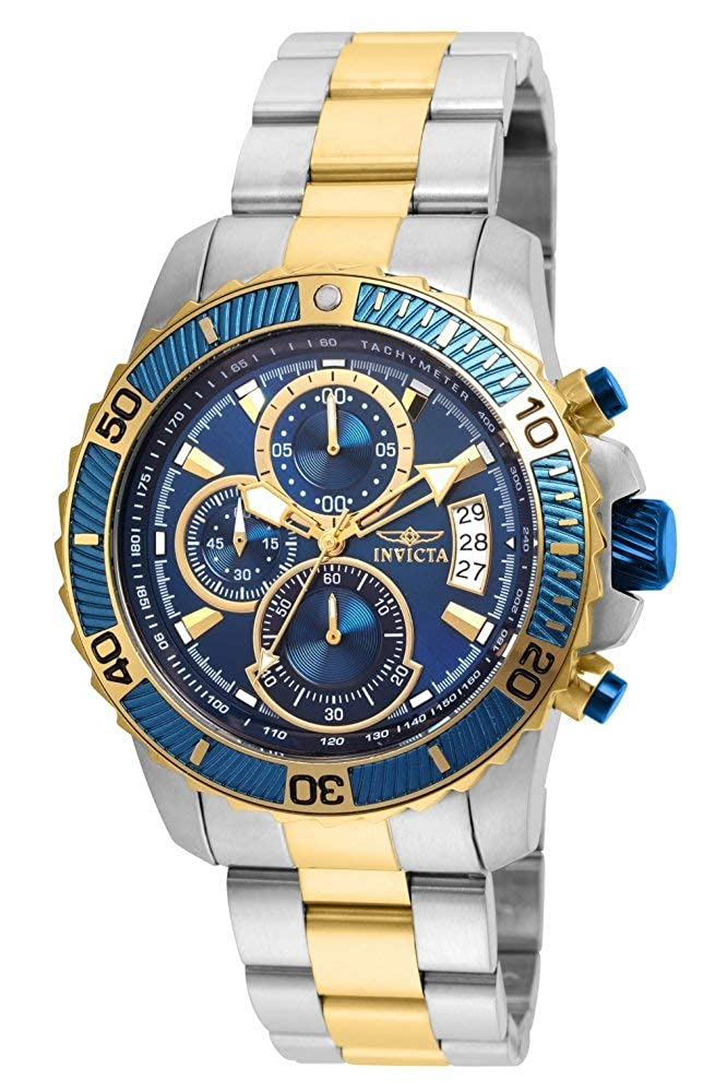 Invicta Men s Pro Diver Quartz Watch with Stainless-Steel Strap, Two Tone, 22 Model 22415
