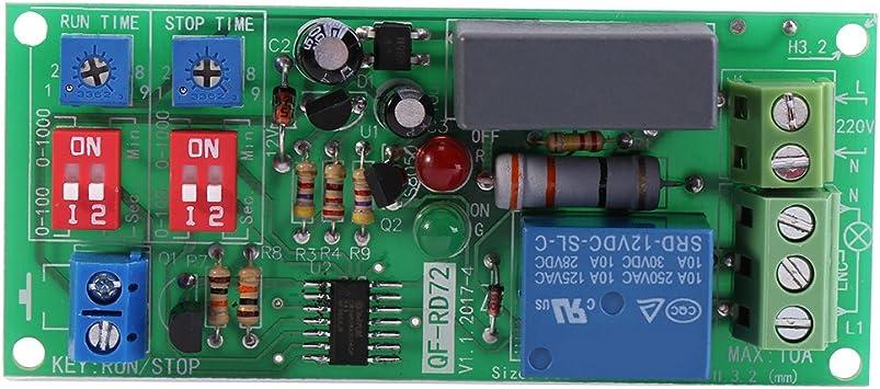 DC12V Einstellbares Zyklus-Schleifen-Verzögerungs-Timer-Zeitrelais-Schalter /_D