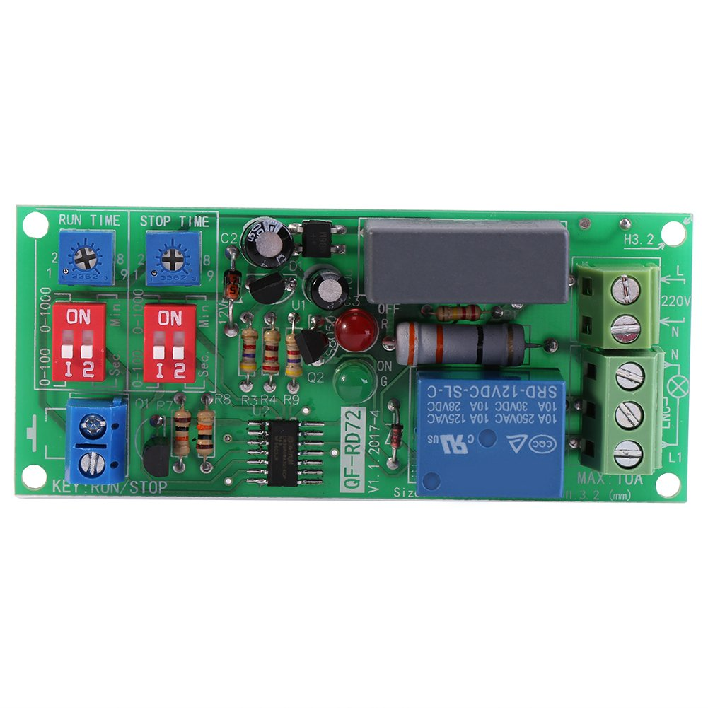 1 unidades ac100 V-250 V Infinite Loop ciclo Timer Módulo Delay Relé ON/OFF ajustable tiempos Switch Module rd72-a Hilitand