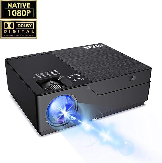 JIMTAB M18 Native 1080P LED & Video Projector