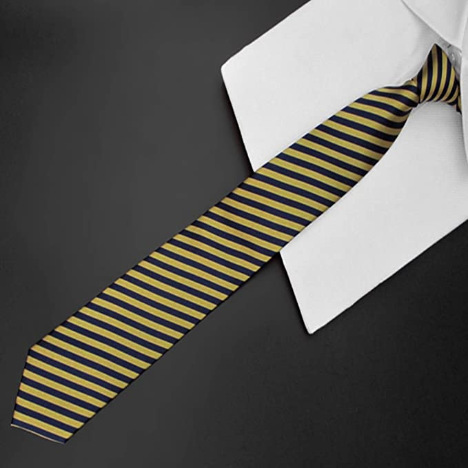 Fgregt - Corbata para Hombre, diseño de Rayas, Color Amarillo ...