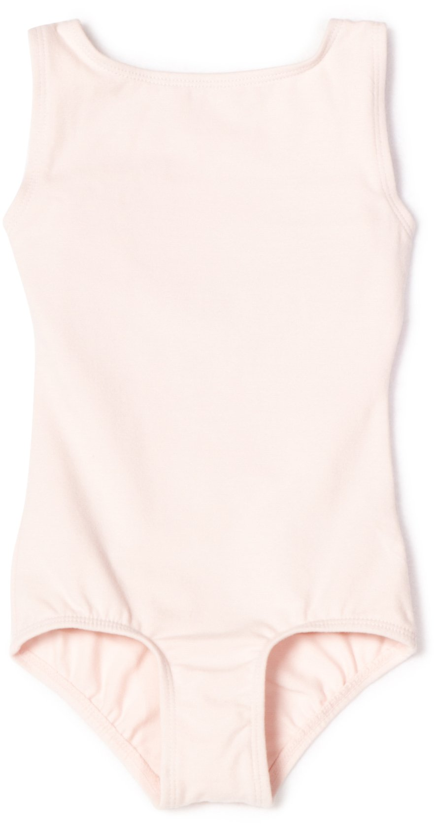 Danskin Little Girls High Neck Tank Leotard Petal Pink Small 4 6