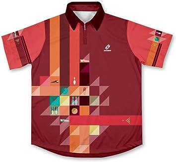 Retro Bowling Jersey Camisa de Bolos