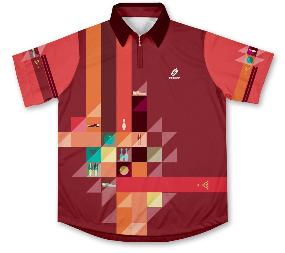 ScudoPro Retro Bowling Jersey - Size XS by ScudoPro