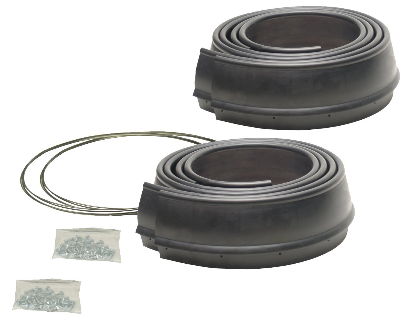 4 Piece Pacer Performance 52-189 Flexy Flares Black 2-1//2 x 58 Heavy Duty Reinforced Rubber Fender Extension Kit