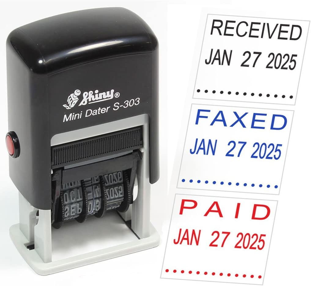 Verified Self Inking Rubber Stamp Custom Shiny Office Stationary Stamp