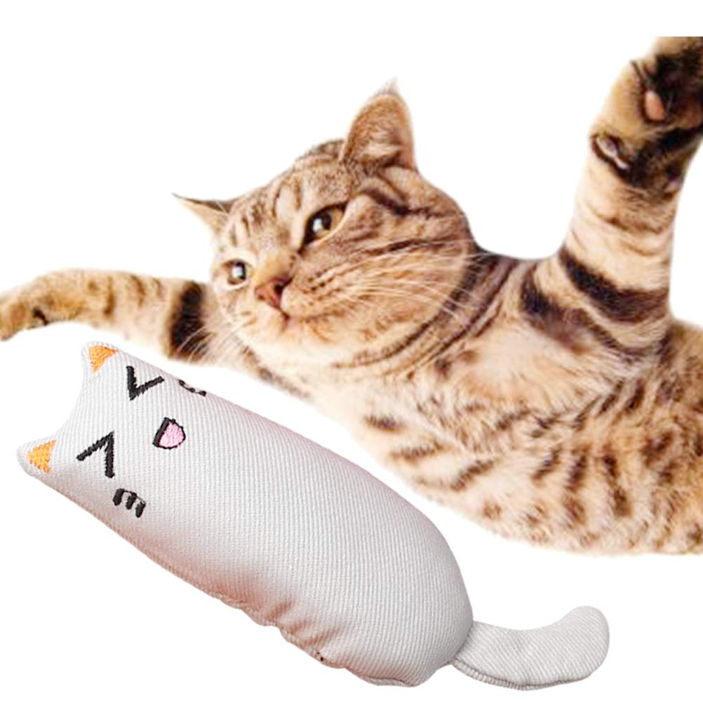 nuosen Cat Catnip Toys 3 Pack Creative Pillow Scratch Pet Catnip Playing Grinding Chewing Teeth Cleaning for Cat