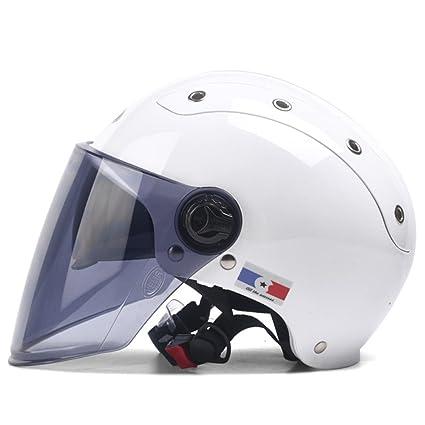 ZXCB Casco De Moto De Verano para Mujer De Hombre Casco De Moto De Medio Casco