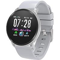 Smart Watch Fitness Tracker, Reloj inteligente rastreador de ejercicios y actividades con monitor de ritmo cardiaco, reloj digital, monitor de sueños, podómetro, cronometro, contador de calorías, resistente al agua IP67, para adultos, hombres y mujeres