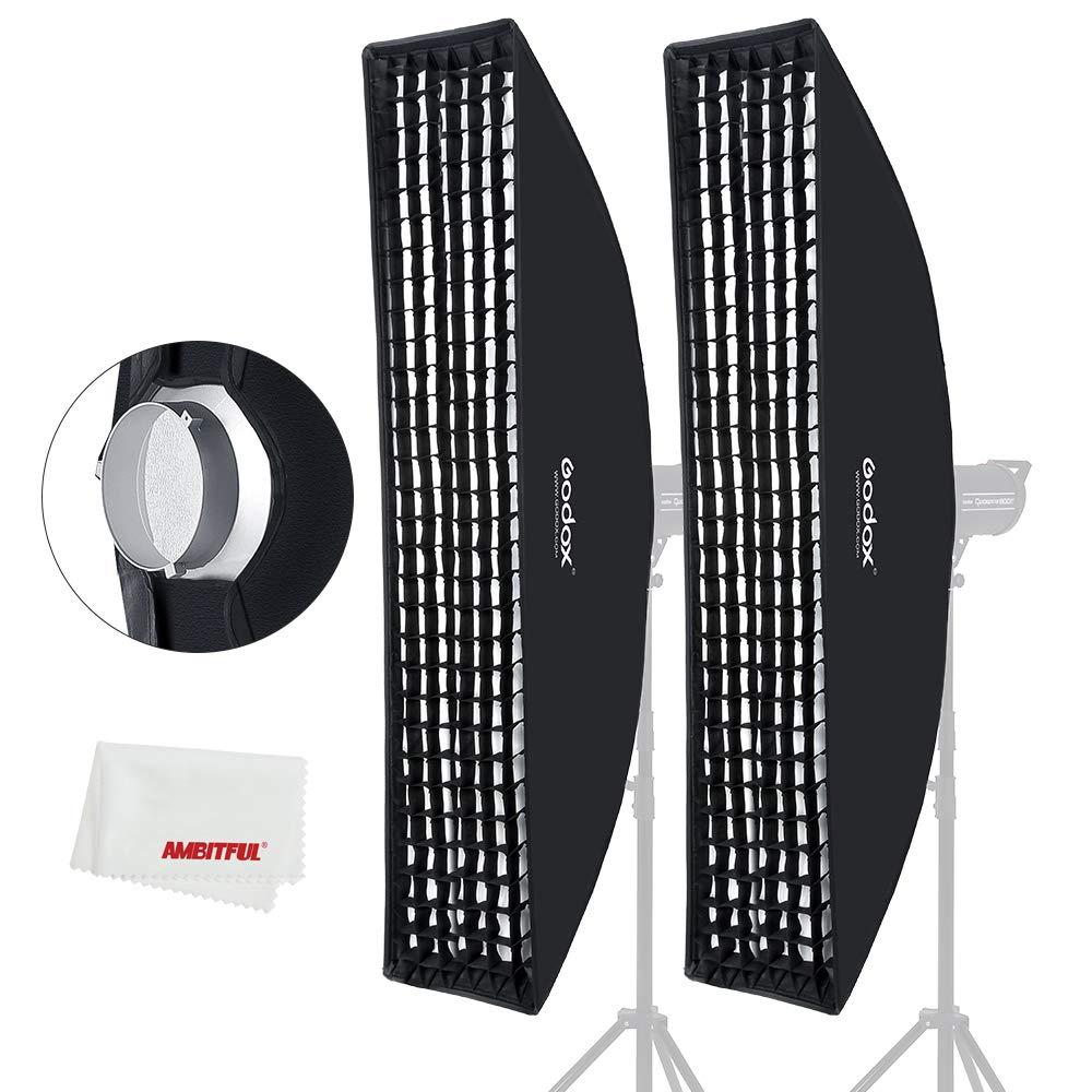 Godox 35x160cm 14''x63'' Beehive Honeycomb Grid Strip Softbox Bowens Mount for Studio Flash (2pcs) by Godox