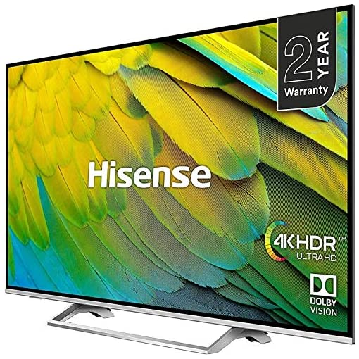 HISENSE H55B7500UK 55-Inch 4K UHD HDR Smart TV with Freeview Play (2019)