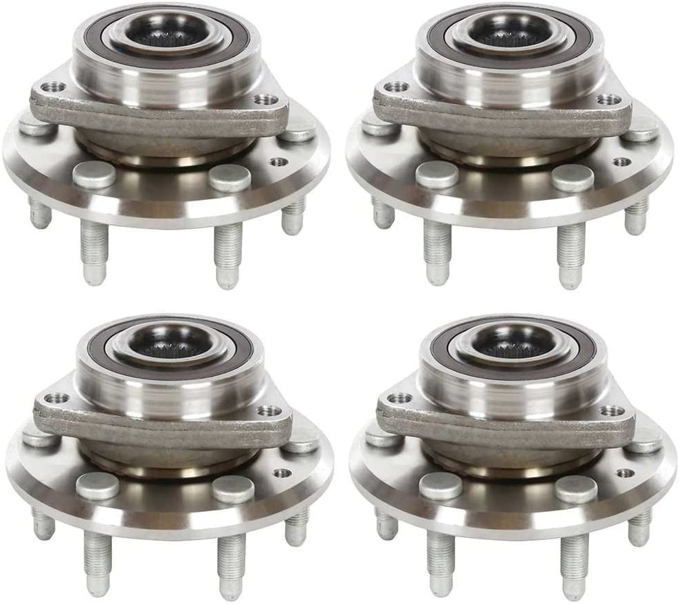 AutoShack HB613279X4 Set of 4 Wheel Bearing Hub Front and Rear Wheel Hub Bearing and Assembly 6 Lugs with ABS Replacement for 2008-2016 Buick Enclave 2009-2016 Chevrolet Traverse 2007-2016 GMC Acadia
