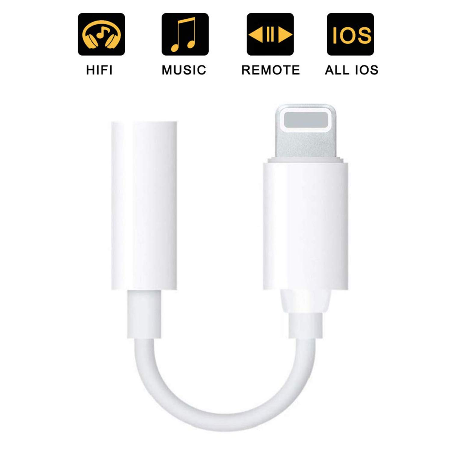 590a3c9bedd4 Headphone Jack Adapter 3.5mm AUX Audio for iPhone 7 /7Plus iPhone 8 /8Plus