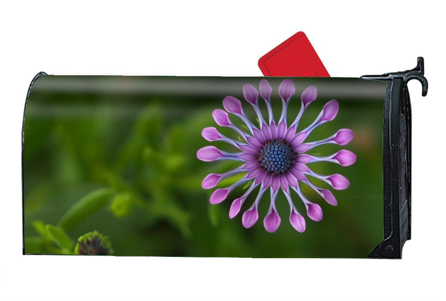KSLIDS Earth African Daisy Flower Magnetic Mailbox Cover - Holiday Themed, Decorative Vintage Mailbox Wrap for Standard Size