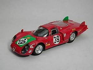 BEST MODEL BT9254 ALFA ROMEO 33.2 N.39 4th LE MANS 1968 GIUNTI-GALLI 1:43 MODEL