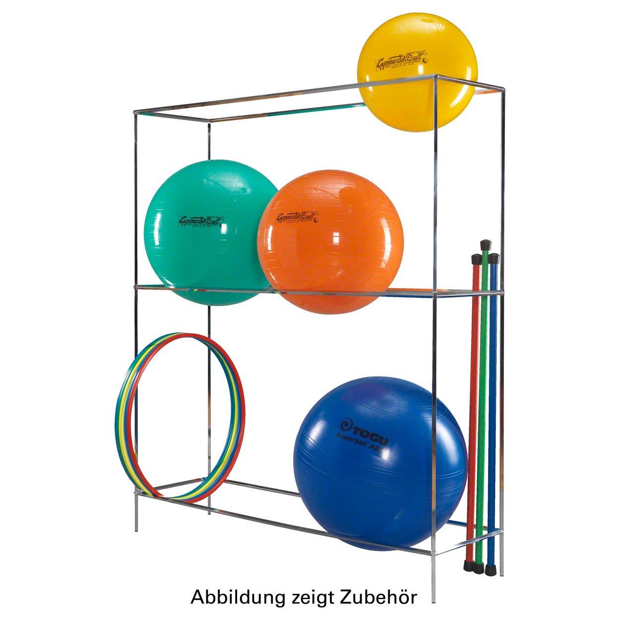 Ballregal Basismodul für 6-9 Bälle Standregal für Sporthallen Physiotherapie