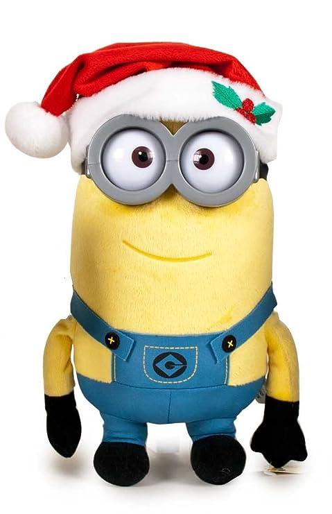 Immagini Minions Natale.Kevin Minion Peluche Natale Con Cappello Rosso Di Santa Claus Occhielli In Plastica Buona Qualita 29cm Speciale Natale I Minion
