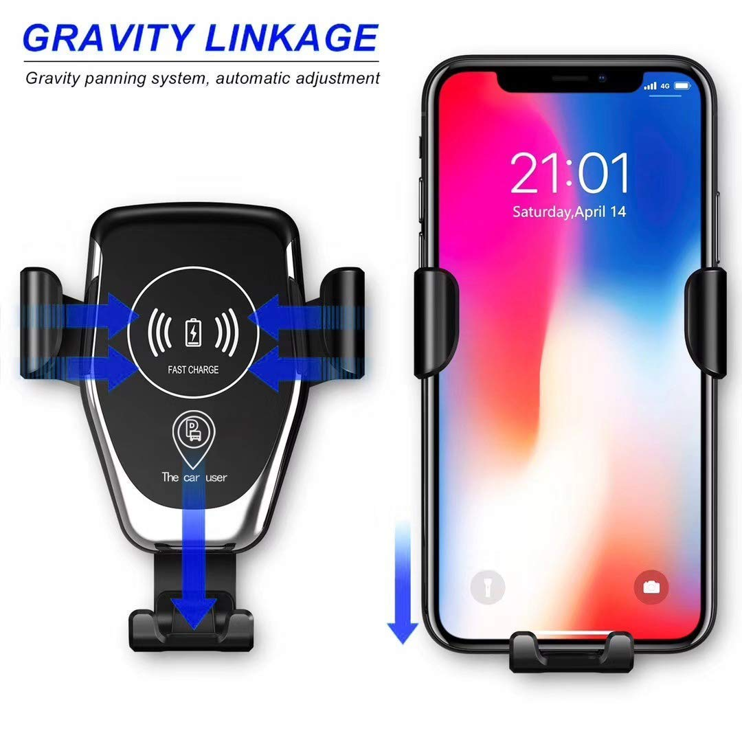 10W Fast Charging for Samsung Galaxy S8//S9//S7//Note 8 Lynctech Wireless Charger Car Mount One-Hand Auto Clamping Air Vent Phone Holder 7.5W Compatible with iPhone Xs//XR//X//8 and Qi Enabled Devices