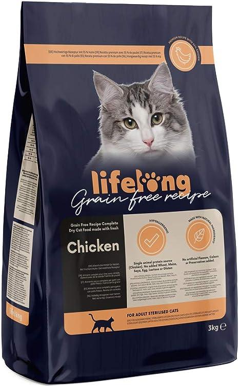 Marca Amazon Lifelong Alimento seco para gatos adultos ...