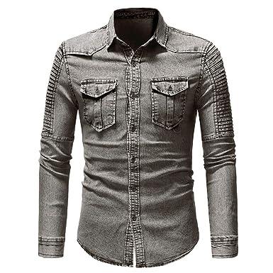 Amazon.com: Freedom - Camisa vaquera de manga larga para ...