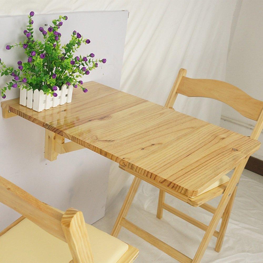 FEIFEI 木製壁掛けドロップリーフテーブル、折りたたみキッチンダイニングテーブル子供用デスク、70×45cm、白、木製カラー スペースを節約する (色 : 木の色) B07DL435LM 木の色 木の色