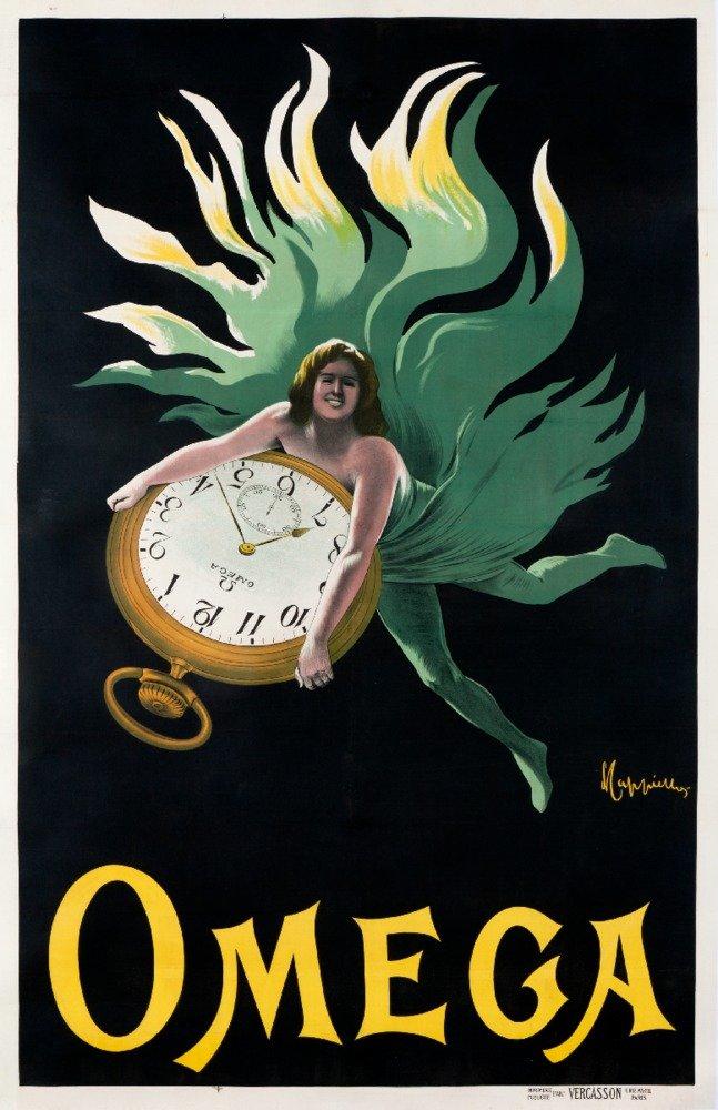 オメガヴィンテージポスター(アーティスト: Leonetto Cappielloフランス 12 x 18 Art Print LANT-58814-12x18 B017Z6X5IU  12 x 18 Art Print