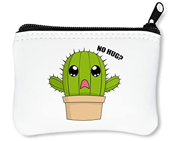 Funny Cactus Billetera con Cremallera Monedero Caratera: Amazon.es: Equipaje