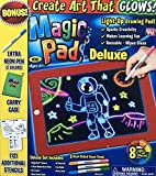 Ontel Bonus Magic Pad Deluxe Light Up LED Drawing Tablet with Extras. Includes 4 Dual Side Markets, Dry Eraser, Glow Boost Card, Fun Guide 42 Stencils, and Carrying Case. (Magic Pad Bonus Pack)