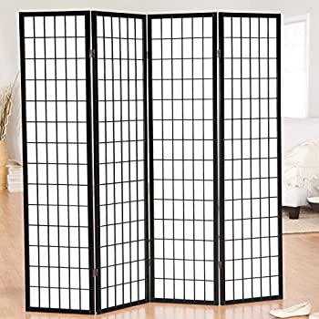 Amazoncom Jakun Shoji Panel Room Divider Kitchen Dining - 4 panel room divider