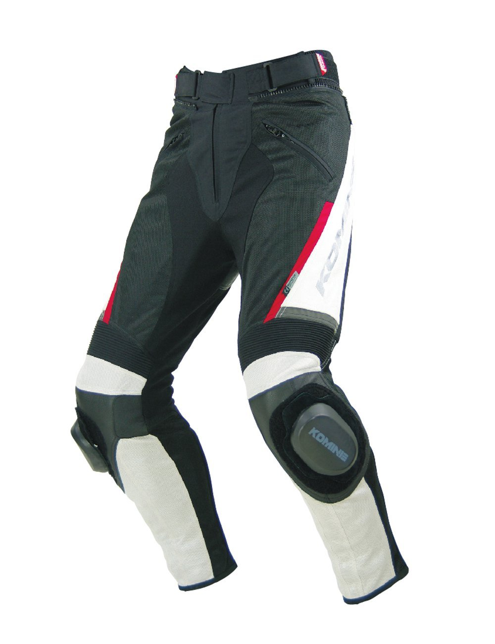 Komine PK-717 Sports Riding Leather M-PNT ivory / black S 07-717