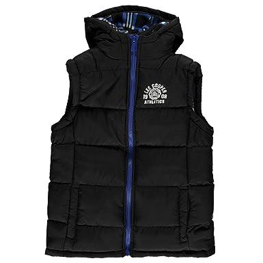 Lee Cooper Junior Boys Sleeveless Hooded 2 Zip Gilet Top  Amazon.co.uk   Clothing 9a70451edf6