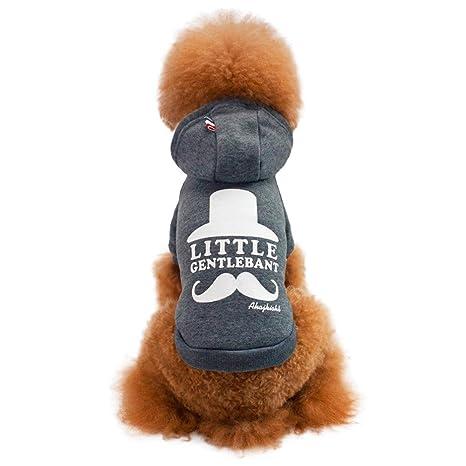 Fossrn Invierno Ropa Perro Pequeño Chihuahua Yorkshire Little Barba Sudadera con Capucha Mascota Abrigo