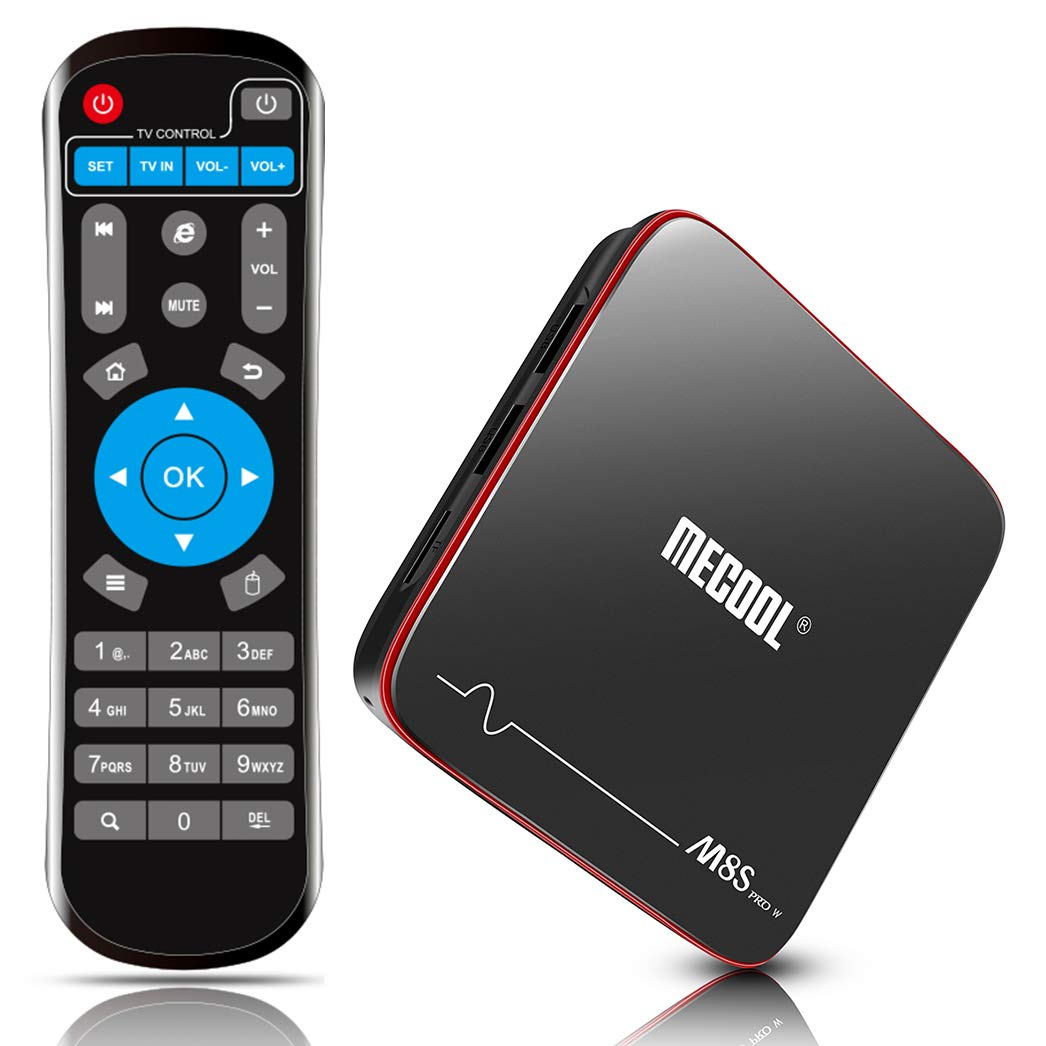 Android TV Box 7.1, MECOOL 2GB RAM 16GB ROM Streaming Media Player Smart TV Box,Support HDMI/H.265/ WiFi 2.4G