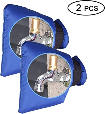Negro Reutilizable Cubiertas para grifos Exteriores Proteja su Grifo para Jard/ín Exterior contra la Congelaci/ón 3 Piezas Cubierta de Grifo para Exteriores de Jard/ín