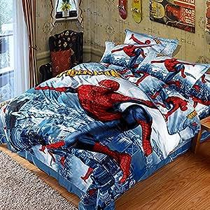 Amazon.com: QiaoShang 3D Spider Man 100% Cotton Bedding