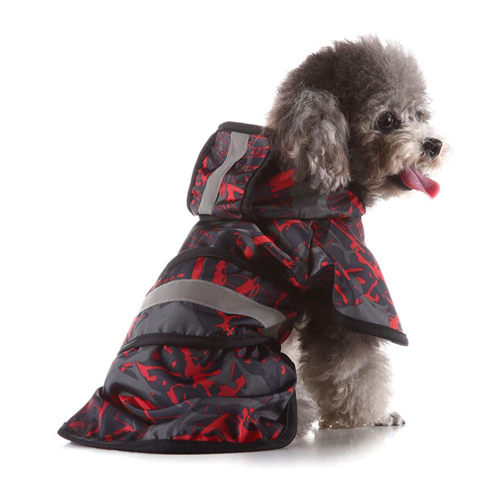 B XXXL B XXXL Dog Hooded Raincoat, Waterproof Polyester Pet Raincoat with Reflective Strip, Suitable for Small Dogs