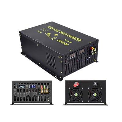 WZRELB Pure Sine Wave 6000W (10000W Surge) 24VDC 120VAC Power Inverter - Solar, RV (RBP-600024S): Electronics