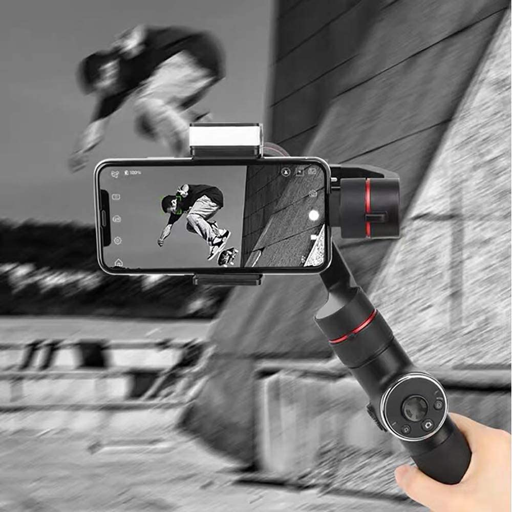 ZOMEI Phone Gimbal Stabilizer for iPhone Xs Max X 8 Plus 7 Plus Android Samsung S8 S7 Huawei P20 Pro Mate 10 Auto Tracking with Time Lapse