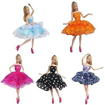 kuulee knielangen hochzeit preisen elegante spitzen kleid für barbie ...