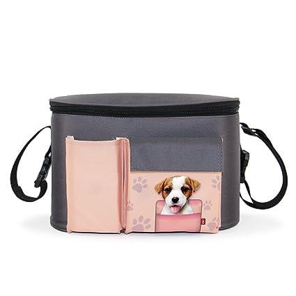 Carrito organizador, Cochecito impermeable bolsa para cochecito cambiador bolsillos para pañales, juguetes y iPad