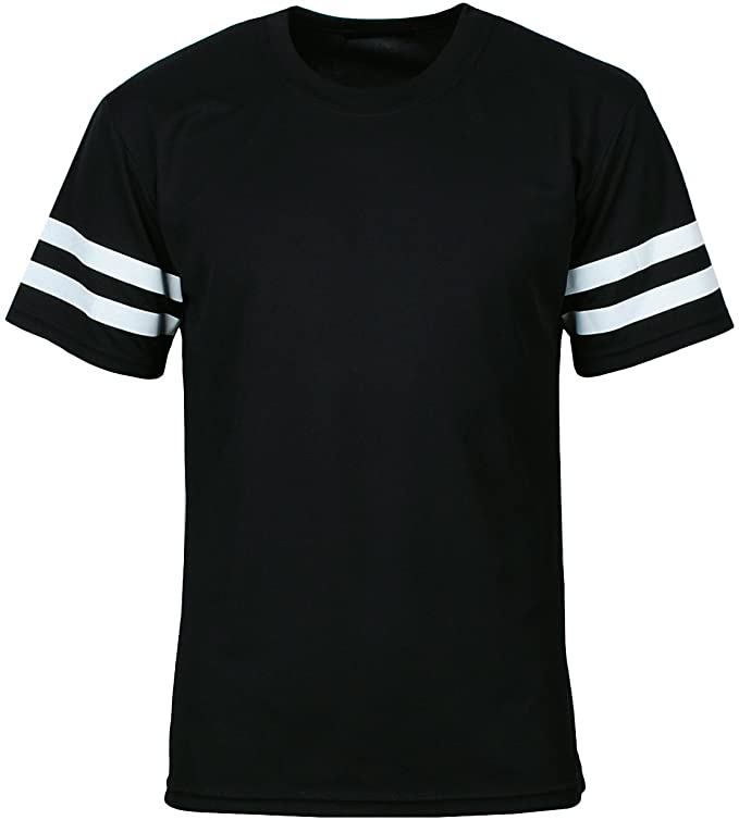 1920s Mens Clothing Mens Varsity Striped Short Sleeve Athletic T Shirt $14.99 AT vintagedancer.com