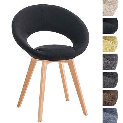 CLP Sedia di design imbottita TIMM, in tessuto, 4 gambe, sedia ...