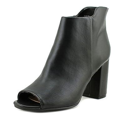 Womens Tinsley Peep Toe Ankle Fashion Boots Black Size 9.0