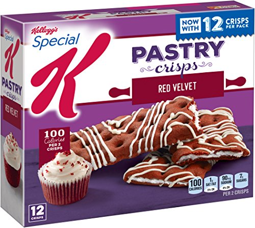 Drizzle Crisps - Special K Pastry Crisps, Red Velvet, 5.28 oz, 12 Crisps, 2 per Pouch (6 Pouches)