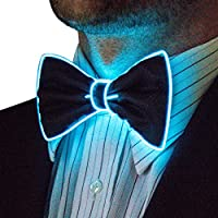 Neon Nightlife Light Up Bow Tie, One Size